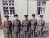 Tony Davies 22, Chalky White, Derek Taylor (DOM), Em Pridham, Tony Bowen.  St. David's Day 1985.Hohone, West Germany