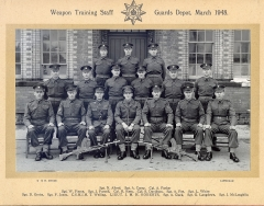 Weapons training staff - Guards Depot - March 1948