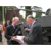 Commemoration Hechtel 2013 : Colonel T C S and Gerard Wuyts.