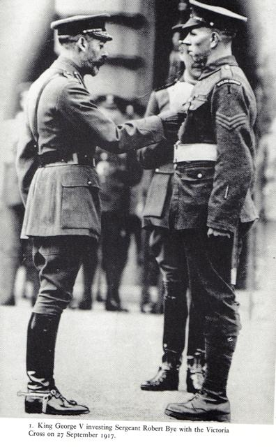 King George V investing Sgt Robert Bye with the Victoria Cro