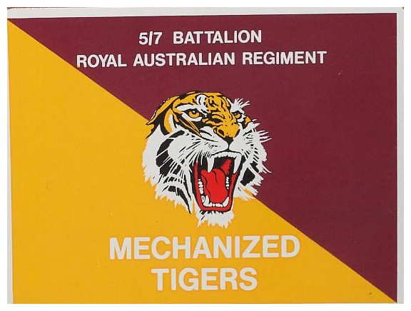 Ric Rees's Battalion flag and logo from Australia....