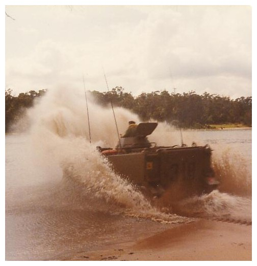High speed water entry in Aussie APC into a river..FUN..&#33