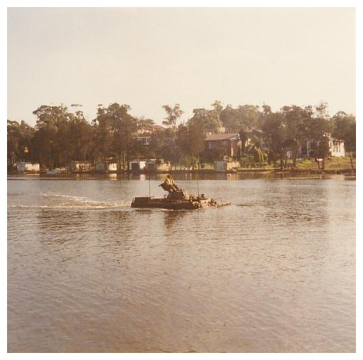 Cruising the River in Aussie APC at 3 knots...1984