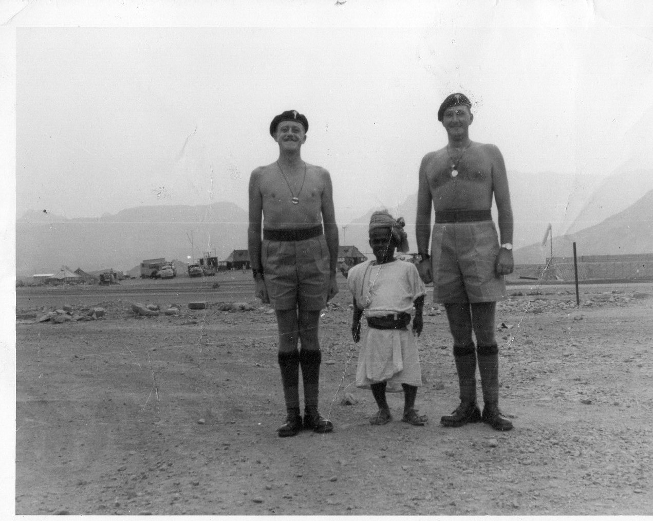 David Jones, Jimmy James and friend in Aden