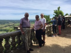 Dordogne region of France, Tony Davies 22 with Dave and Jules Woods