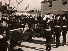 Funeral of Capt Huge Sayers.