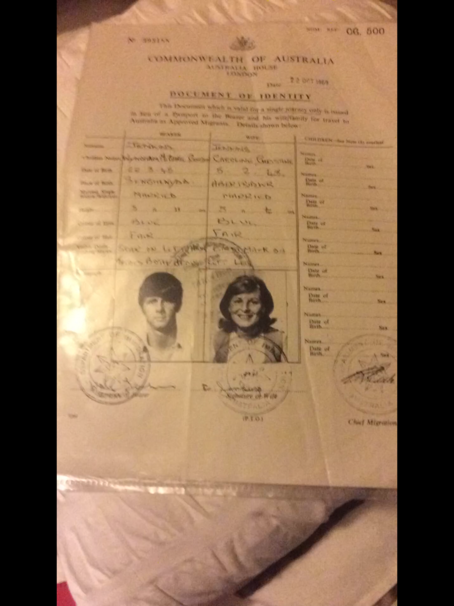 old passport 1969